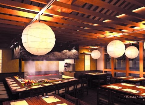 ROBATA NISEKO NANIWATEI Luch service Opens