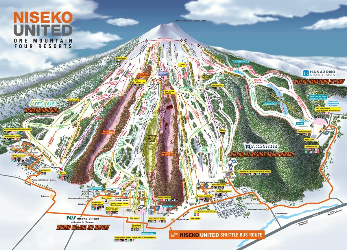 Niseko Trail Map