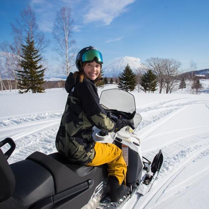 Snowmobile in Niseko