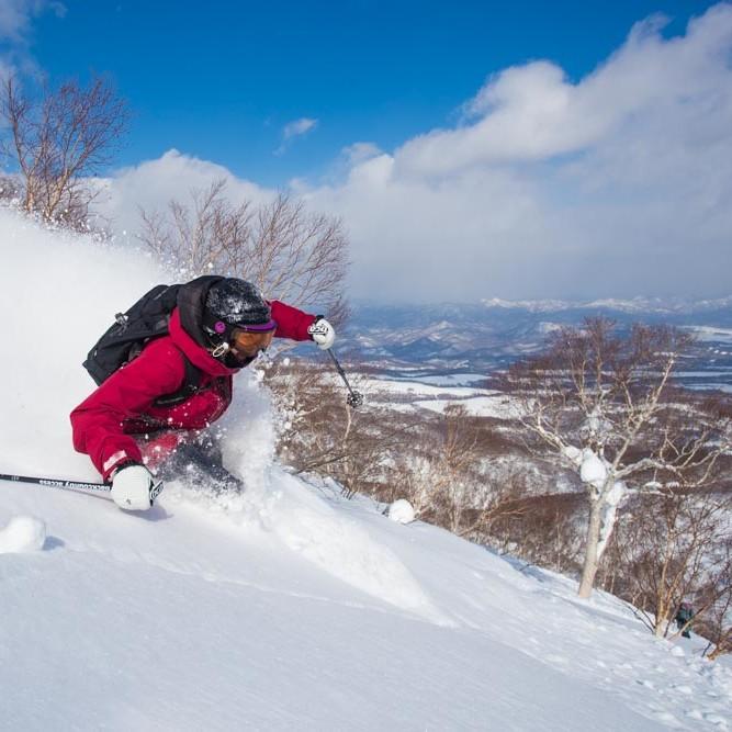 Skiing in Niseko