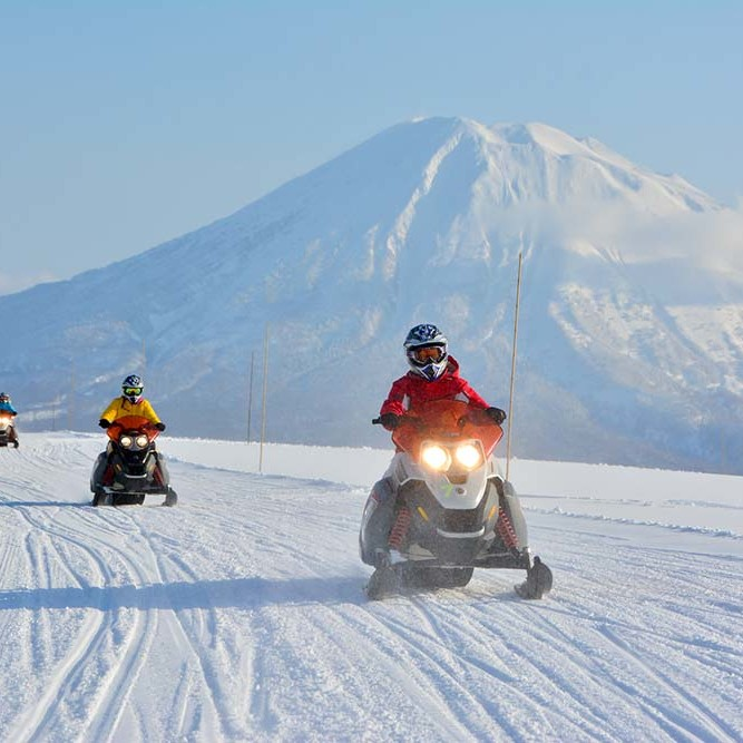 Snowmobiling in Hanazono