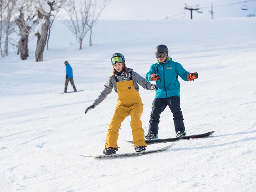 Snowboard School Lesson
