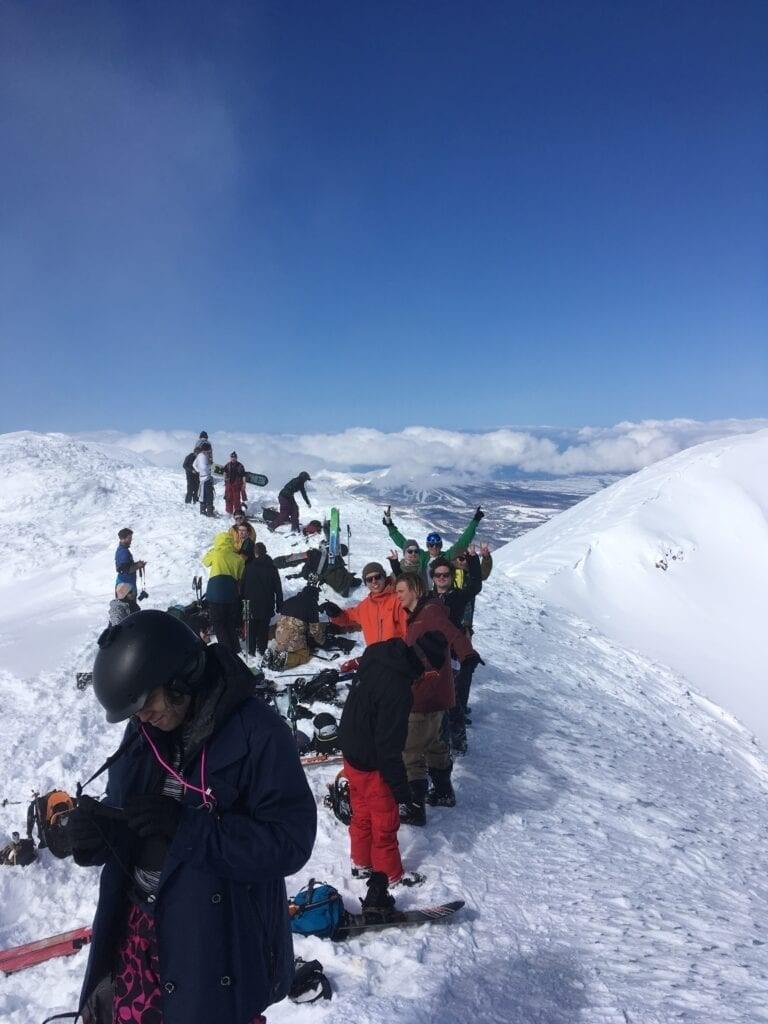 Standing on the peak of Mt Yotei