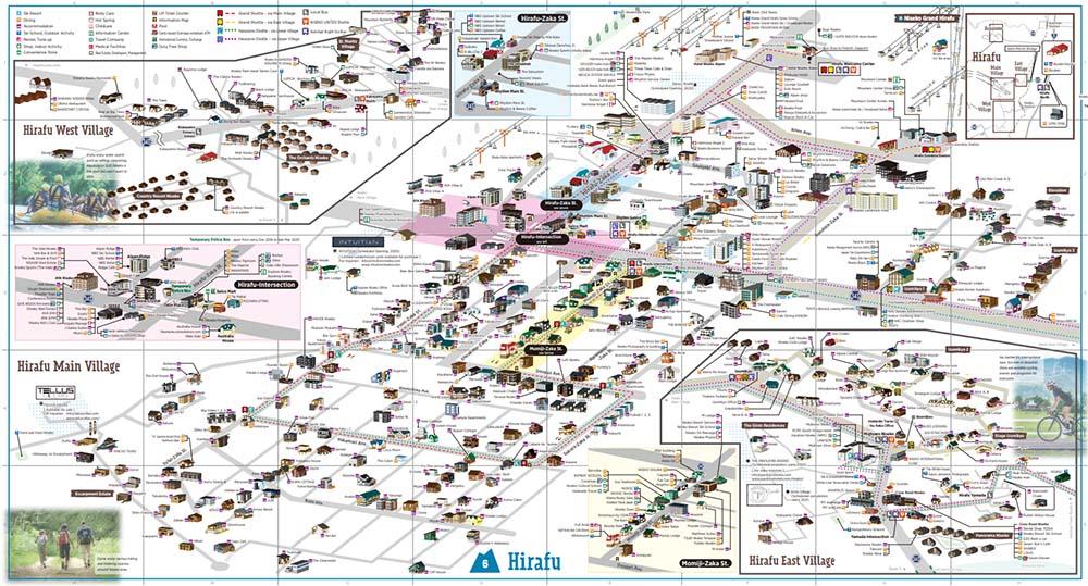 二世古度假村地圖