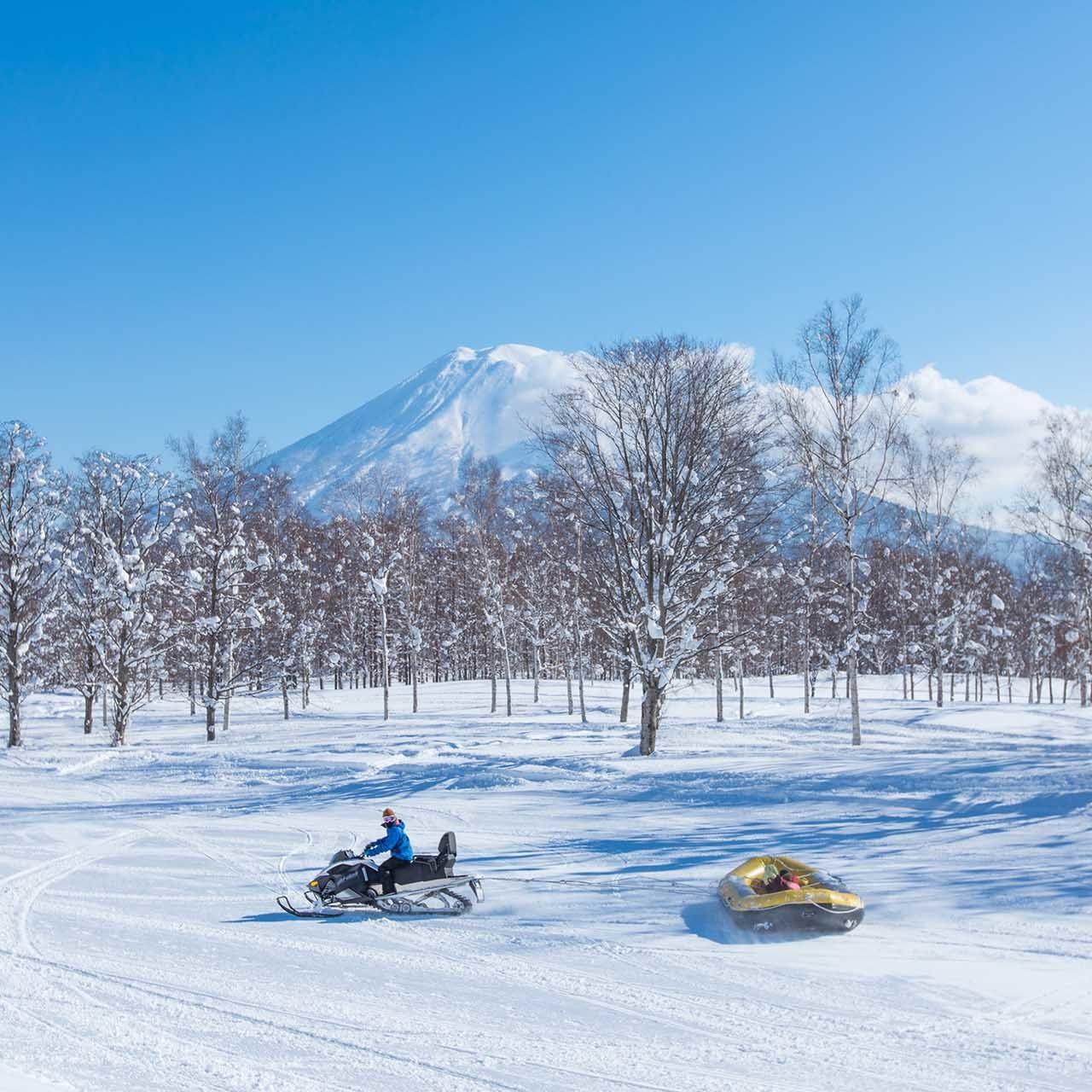 snow rafting in niseko village